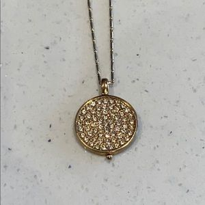 Monet embellished coin necklace